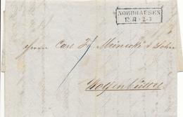 NORDHAUSEN - 1850 , Brief Mit Inhalt Nach Wolfenbüttel - Hannover