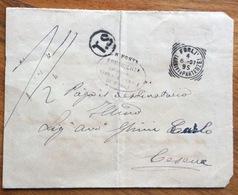 TRIBUNALE FORLI' BUSTA TASSA A CARICO 4/6/07 PER CESENA FATTA CON UN DOCUMENTO D'ARCHIVIO COMUNE DI FORLI'.... - 1900-44 Vittorio Emanuele III