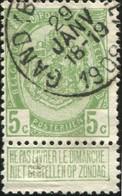 """COB   83 A  (o) Oblitération """"Gand (Boucherie)"""" T1L  Partiel - 1893-1907 Armoiries"""