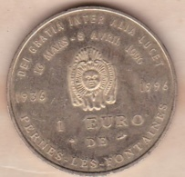 Vaucluse. 1 Euro De Pernes Les Fontaines 1996 , La Fontaine Du Cormoran - Euros Des Villes