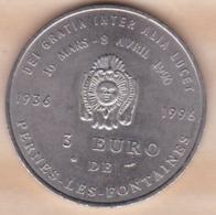 Vaucluse. 3 Euro De Pernes Les Fontaines 1996 , La Fontaine Du Cormoran - Euros Des Villes