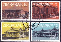 Simbabwe - 75 Jahre Postsparkasse (Mi.Nr.: 247/50) 1980 - Gest. Used Obl. - Zimbabwe (1980-...)