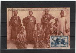 COMP2 - SENEGAL EXPOSITION INTERNATIONALE 1937 1f50 SEUL SUR CPA  NON ECRITE OBL. SAINT LOUIS 17/4/1937 (FDC15/4/37) - Sénégal (1887-1944)