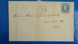 Lettre De Cruseilles Haute Savoie GC 1242 Sur Napoleon N° 29 Pour Paris 1869 - 1849-1876: Klassik