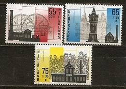 Pays-Bas Netherlands 1987 Industrial Architecture Set Complete MNH ** - 1980-... (Beatrix)