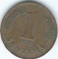 Latvia - 1st Republic - 1 Santims - 1937 (KM10) - Latvia