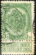 "COB   83 A  (o) Oblitération ""Heyst-sur-Mer""   T1L - 1893-1907 Armoiries"