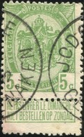 "COB   83 A  (o) Oblitération ""Jodoigne Geldenaken""T4R - 1893-1907 Armoiries"