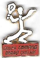 Pin's  ARTHUS  BERTRAND, Sport  Ténnis  COUPE  COMPAQ  GRAND  CHELEM - Tennis