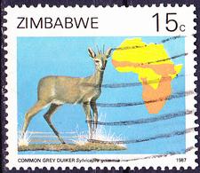 Simbabwe - Kronenducker (Sylvicapra Grimmia) (Mi.Nr.: 368) 1987 - Gest. Used Obl. - Zimbabwe (1980-...)