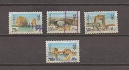 Fiscal Used Stamps 25p-100p-500p 1985 & 200p 1987 Revenue Lebanon, Liban - Liban