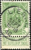 """COB   83 A  (o) Oblitération """"Lierre"""" T1L - 1893-1907 Armoiries"""