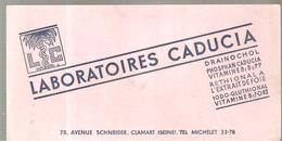 Buvard LABORATOIRES CADUCIA 78, Avenue SCHNEIDER à Clamart - Chemist's