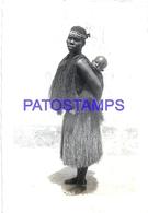 106559 AFRICA GUINEA PORTUGUESA COSTUMES WOMAN AND BABY PHOTO NO POSTAL POSTCARD - Guinea-Bissau