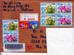 VIETNAM  MODERN COVER To  HOLLAND     ORCHIDS    CHESS    SHIPS - Viêt-Nam