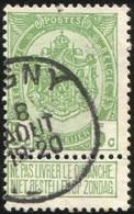 """COB   83 A  (o) Oblitération """"Ligny"""" T1L  Partiel - 1893-1907 Armoiries"""