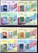 JAPON BLOCS 113/122** SUR LES POEMES DE VOYAGE DU RECUEIL OKO NO HOSOMICHI - Blocs-feuillets