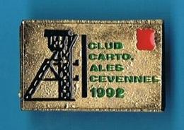 PIN'S //  ** CLUB CARTO / ALES / CÉVENNES // 1992 ** . (N° 261) - Badges