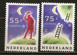 Pays-Bas Netherlands 1991 Europa Espace Space Set Complete MNH ** - 1980-... (Beatrix)