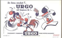 Buvard URGO Pansement D'urgence URGO Pour Petites Blessures Buvard N°1 Combat De Coq - Chemist's