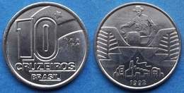 BRAZIL - 10 Cruzeiros 1992 KM# 619 Monetary Reform (1990-93) - Edelweiss Coins - Brésil