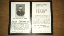 Sterbebild Wk1 Ww1 Bidprentje Avis Décès Deathcard KUK IR49 Lungentuberkulose WIEN Aus Dorf Krennstetten 4. Mai 1917 - 1914-18