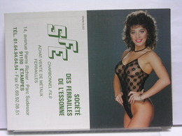 CALENDRIER SFE - SOCIETE DES FERRAILLES DE L'ESSONNE - ETAMPES - FEMME NUE EN LINGERIE - 1999 - Calendriers