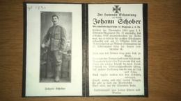 Sterbebild Wk1 Ww1 Bidprentje Avis Décès Deathcard KUK Schützenregiment 21 RISANO Dalmatien Aus Wagram - 1914-18