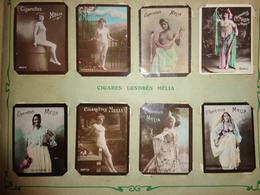 Lot De 256 Vignettes Cigarettes Mélia Avec Album - Objets Publicitaires