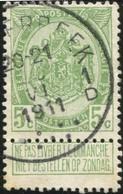 "COB   83 A  (o) Oblitération ""Schaerbeek  1 D"" T4R - 1893-1907 Armoiries"