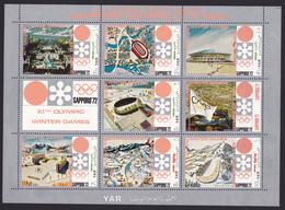YEMEN REPUBLIQUE ARABE N°  231, AERIENS N° 122 ** MNH Neufs Sans Charnière, 7 Val. TB (CLR425) JO Sapporo -1970 - Yemen