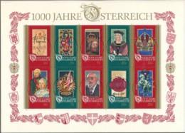 ÖSTERREICH Mi. Nr. Block 12 1000 Jahre Österreich - Used - Blokken & Velletjes