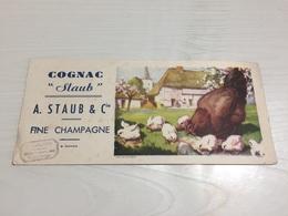 Buvard Ancien COGNAC STAUB FINE CHAMPAGNE - Liqueur & Bière