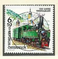 ÖSTERREICH Mi. Nr. 2255 Eisenbahnen: 100 Jahre Ybbstalbahn - Used - 1945-.... 2. Republik