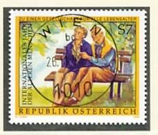 ÖSTERREICH Mi. Nr. 2293 Internationales Jahr Der Senioren - Used - 1945-.... 2. Republik