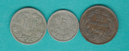 Luxembourg - Adolphe - 1901 - 2½, 5 & 10 Centimes (KMs 21, 24 & 25) - Luxembourg