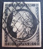 DF50478/79 - CERES N°3 - LUXE - GRILLE NOIRE - Cote : 65,00 € - 1849-1850 Ceres