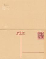 ALLENSTEIN / Marienwerder - 1920 , Postkarte Mit Antwort - TRAITE DE VERSAILLES - Deutschland