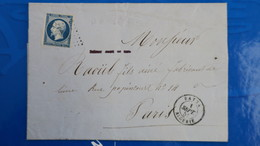 Napoleon N° 14 Sur Lettre De Batna Algerie Septembre 1855 Pour Paris - Marcophilie (Lettres)