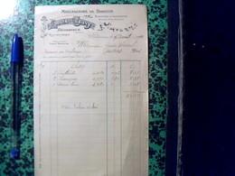 Vieux Papier Facture Annee 1910 Facturette Manufacture De Biscuits Biscottes Et Croquette LOUIS CAUVY  Bedarieux Herault - France