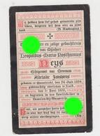 Maastricht Léopoldus Maria Posthumus NEYS  époux Adélaïde JANSSENS 1824 - 1909 - Overlijden