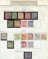 10881 ALLEMAGNE Confédération Du Nord  Collection Vendue Par Page  1868-69   B/TB - Verzamelingen