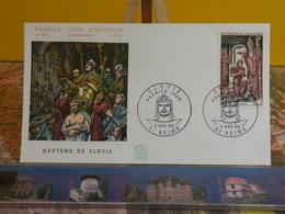 Baptême De Clovis (51) Reims - 5.11.1966 FDC 1er Jour N°577 - Coté 2€ - 1960-1969