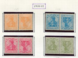10884 ALLEMAGNE   Collection Vendue Par Page * Tête-bêche    1920-22    TB - Verzamelingen