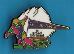 PIN'S //   ** COMITÉS / LE GRAND BORNAND / LA JOYERE / SNOBOARDEUR ** . (Plessis) - Winter Sports