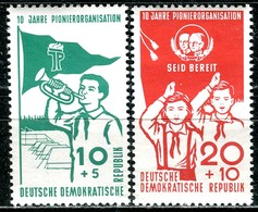 DDR - Mi 645 / 646  - ** Postfrisch (F) - 10+5-20+10Pf    10 Jahre Pionierorganisation - Neufs