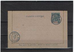 COMP2 - OBOCK CARTE LETTRE 15c OBLITEREE NON CIRCULEE - Obock (1892-1899)