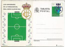 ENTERO POSTAL REAL UNION CLUB DE IRUN FUTBOL FOOTBALL DEPORTE - Equipos Famosos