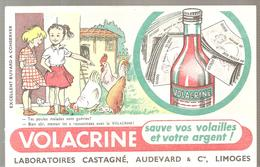 Buvard VOLACRINE Sauve Vos Volailles Et Votre Argent! Laboratoires CASTAGNE AUDEVARD & Cie à LIMOGES - Animaux