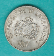 Luxembourg - Charlotte - 100 Francs - 1963 - KM52 - Luxembourg